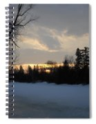 Mid March Sunrise Over Mississippi River Spiral Notebook