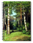 Midday Warmth In A Forest Impressionism Spiral Notebook