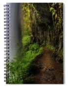 Middle North Falls Grotto Spiral Notebook