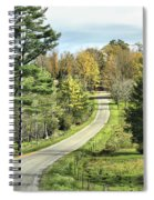 Middle Road In Autumn Spiral Notebook