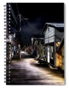 Midnight At The Boathouse Spiral Notebook
