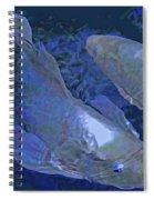 Midnight Blue Koi Spiral Notebook