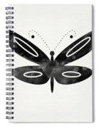 Midnight Butterfly 1- Art By Linda Woods Spiral Notebook