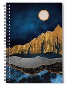 Midnight Desert Moon Spiral Notebook