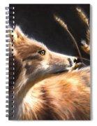 Midnight Fox Spiral Notebook