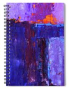 Midnight Glow Abstract Spiral Notebook