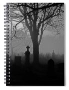 Midnight Graveyard Fog Spiral Notebook