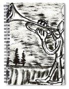 Midnight Horn Spiral Notebook