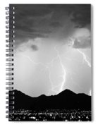 Midnight Hour Black And White Spiral Notebook