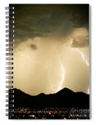 Midnight Lightning Storm Spiral Notebook