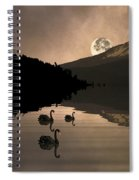 Midnight Moods Swan Lake In The Moonlight Spiral Notebook