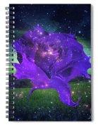 Midnight Rose Spiral Notebook