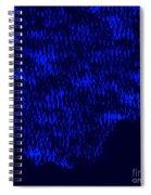 Forest Slope In Moonlight Spiral Notebook