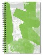 Midori- Abstract Art By Linda Woods Spiral Notebook