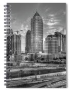 Midtown Atlanta Dusk B W Atlanta Construction Art Spiral Notebook