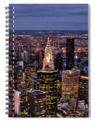 Midtown Skyline At Dusk Spiral Notebook
