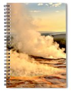 Midway Geyser Basin Steamy Sunrise Spiral Notebook