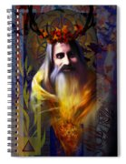 Midwinter Solstice Fire Lord Spiral Notebook
