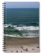 Mighty Ocean Aerial View Spiral Notebook