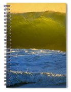 Mighty Ocean At Sunrise Spiral Notebook