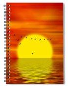 Migrating Birds Spiral Notebook