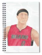 Mike Bibby Spiral Notebook