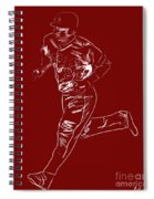 Mike Trout Home Run Trot Spiral Notebook