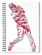 Mike Trout Los Angeles Angels Pixel Art 20 Spiral Notebook