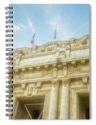 Milan Italy Train Station Facade Spiral Notebook