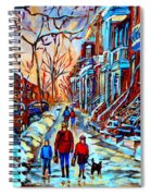 Mile End Montreal Neighborhoods Spiral Notebook
