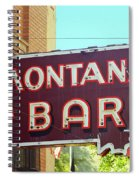 Miles City, Montana - Bar Neon Spiral Notebook