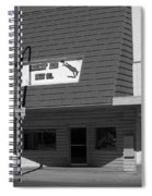 Miles City, Montana - Downtown Bw Spiral Notebook