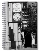 Miles City, Montana - Downtown Clock Bw Spiral Notebook