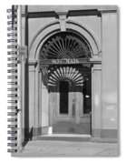 Miles City, Montana - Downtown Entrance Bw Spiral Notebook