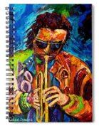 Miles Davis Hot Jazz Portraits By Carole Spandau Spiral Notebook