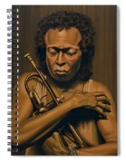 Miles Davis Painting Spiral Notebook