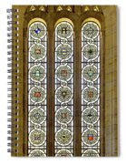 Military Insignia On Stained Glass - Meuse Argonne - East Spiral Notebook