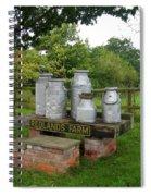 Milkcans Wiltshire England Spiral Notebook