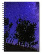 Milky Way And Silhouette Trees At Bruneau Dunes State Park Idaho Spiral Notebook