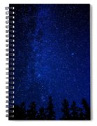 Milky Way And Trees Spiral Notebook