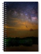Milky Way Fire Spiral Notebook