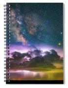 Milky Way Monsoon Spiral Notebook