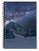 Milky Way On Italian Dolomites Spiral Notebook