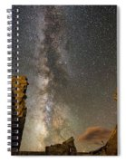 Milky Way Over Crest House Spiral Notebook