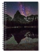 Milky Way Over Lone Eagle Peak And Mirror Lake Spiral Notebook