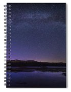 Milky Way Over Lonesome Lake Panorama Spiral Notebook