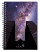 Milky Way Over New Technology Telescope Spiral Notebook