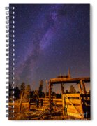 Milky Way Over Old Corral Spiral Notebook
