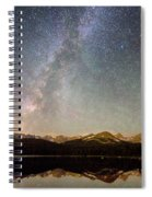 Milky Way Over The Colorado Indian Peaks Spiral Notebook