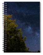 Milky Way Over The Forest At The Troodos Mountains In Cyprus. Spiral Notebook